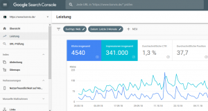 google search console neue design
