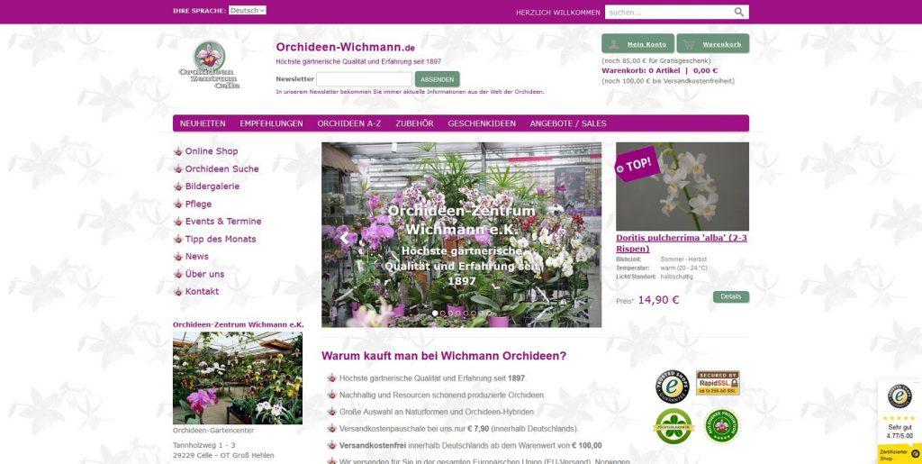 Orchideen Wichmann Online Shop