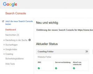 magento seo google search console