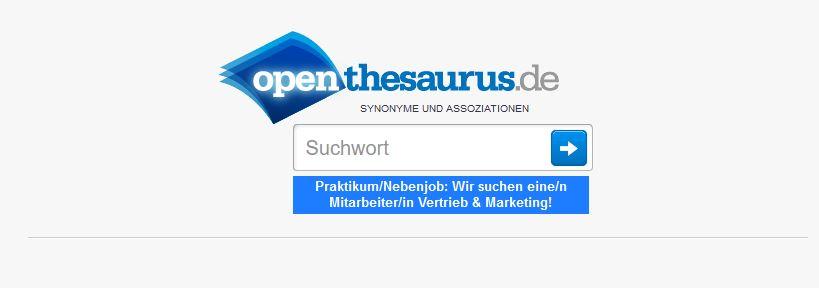 Keyyword Tool Open Thesaurus für Synonyme